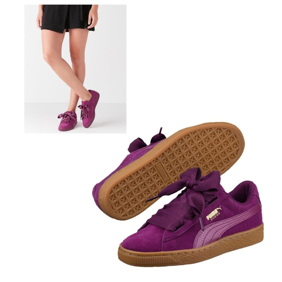 buy popular 0f0ee 856fb Puma Suede Heart Snake JR Sneakers Dark Purple 7C NWT